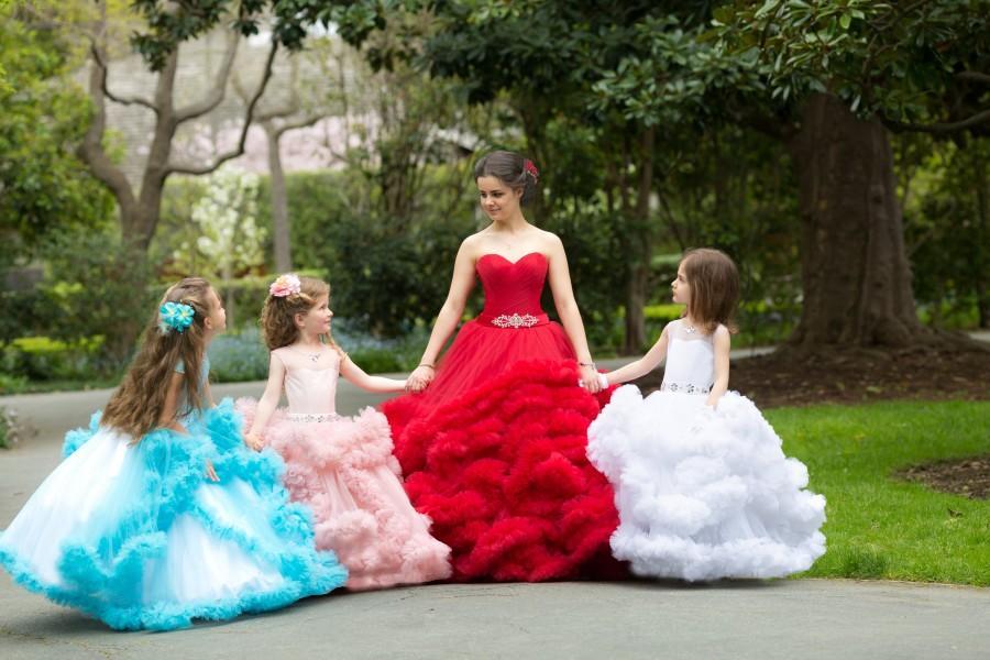 Свадьба - Custom order flower girl dress wedding party Special occasion Birthday Princess