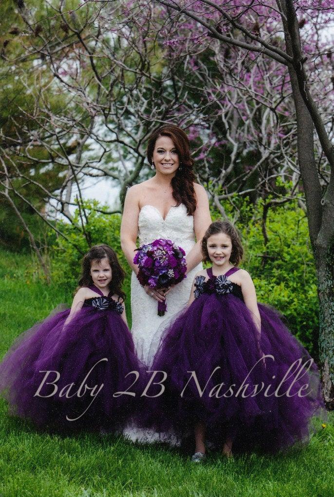 Mariage - Plum Dress Tulle Dress Tutu Dress Party Dress Birthday Dress Wedding Dress Flower Girl Dress Baby Dress Toddler Dress Girls Dress