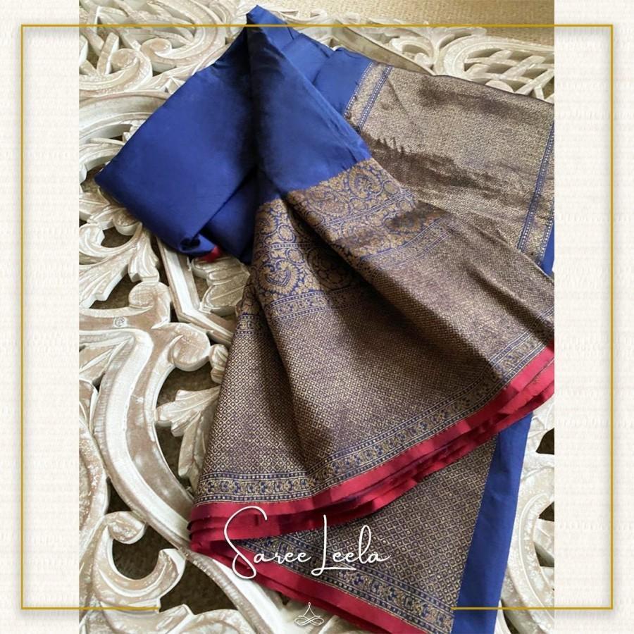 Mariage - Navy Blue Banarasi Silk Saree