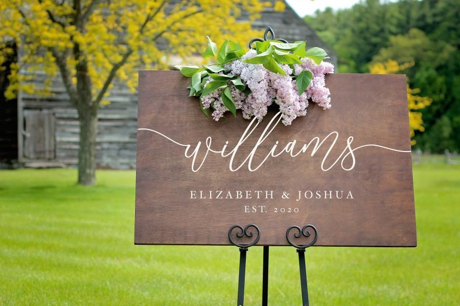 Mariage - Wood Wedding Sign, Wedding Welcome Sign, Rustic Wedding Decorations