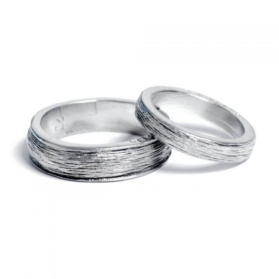 زفاف - His and Hers 100% Pure Tin Rings Inscribed with 'Ten Years' Perfect 10 Year Anniversary Gift (Pair)