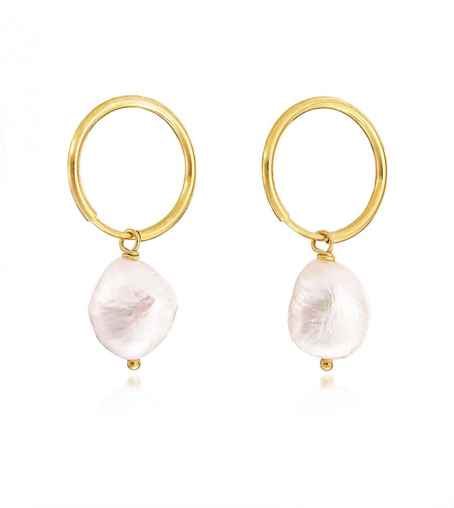 زفاف - Baroque Pearl Earrings