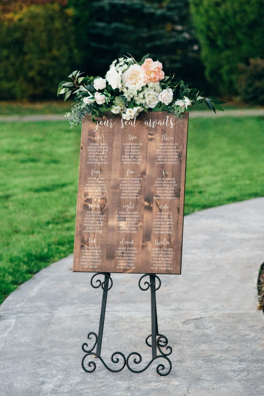 Свадьба - Personalized Seating Chart - Wood Wedding Sign