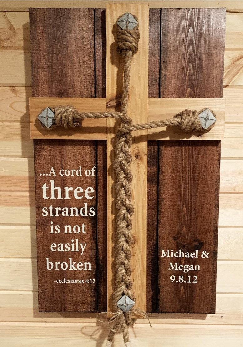 Wedding - Wedding Unity Ceremony - Braid w/Ecclesiastes 4:12 scripture with personalized Names/Date