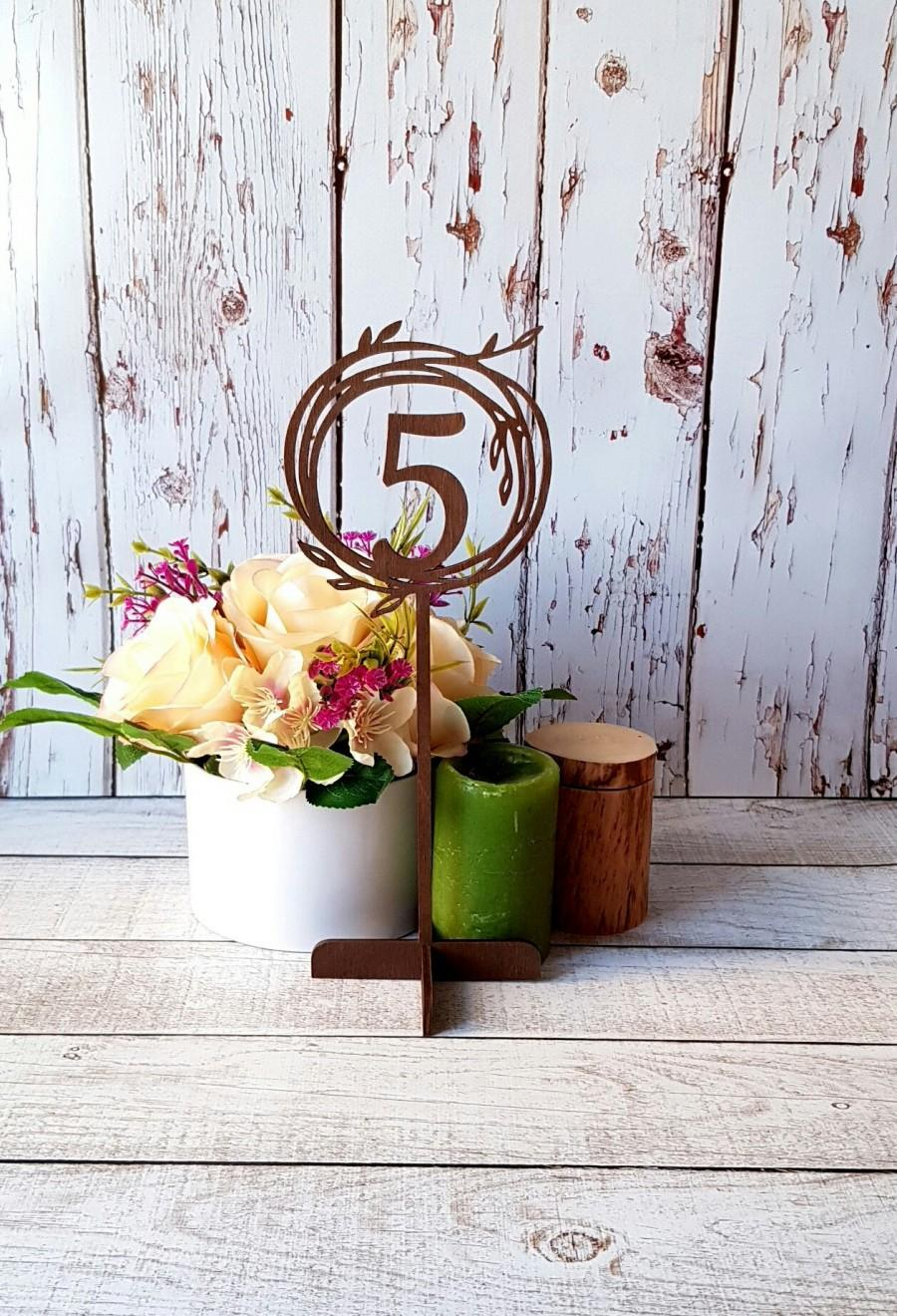 Wedding - Wedding Table Numbers on Stand Stick Wooden Table Numbers Wedding Numbers Freestanding Numbers Wedding Table Sign Wedding Sign Table Signage