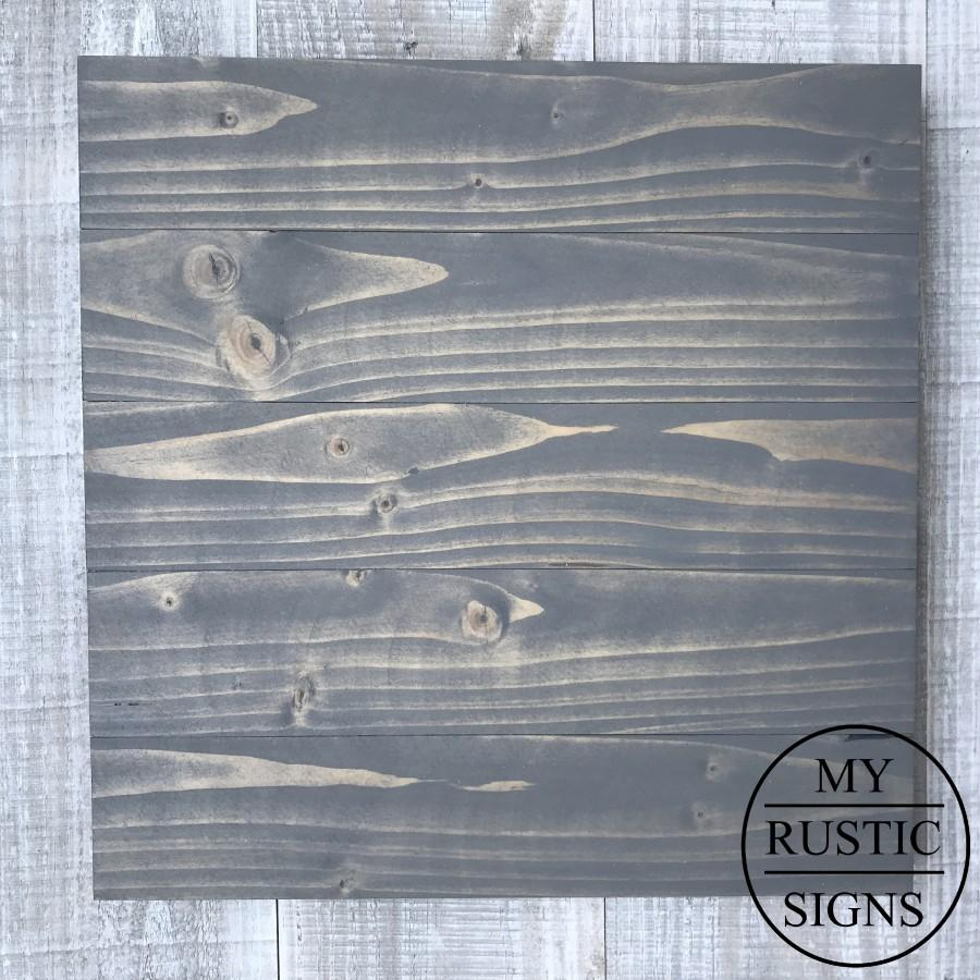 Mariage - Weathered Grey Wood Sign Blank