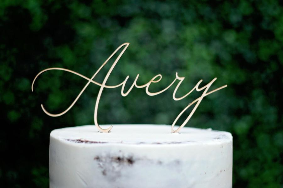 زفاف - Wood Name Cake Topper, Custom Cake Topper, Birthday Cake Topper, Personalized Name Cake Topper, Baby Shower Cake Topper, Baby Name