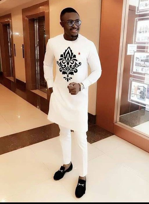 Wedding - Special Occasion African Dashiki Two Piece Suit,African Men's Clothing,Dashiki Wedding Suite,African Men's shirt & Pants,African Men's Style