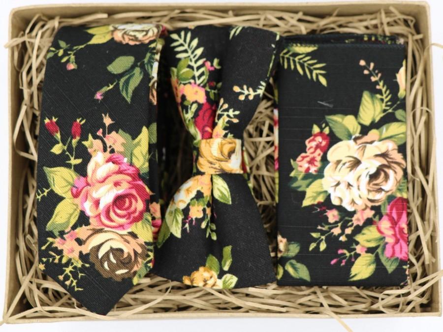 Hochzeit - ROSE: Ties for Men, Groomsmen Gift, Boyfriend Gift, Husband Gift, Wedding Dress, Wedding Attire Mens, Floral Tie, Floral Pocket Square