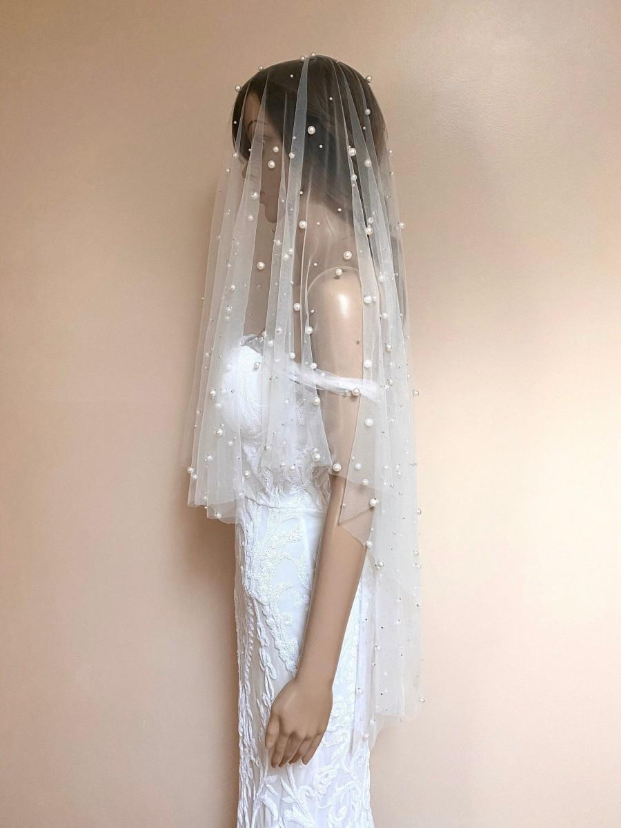 Mariage - Abington pearl veil in ivory (veil with the blusher)