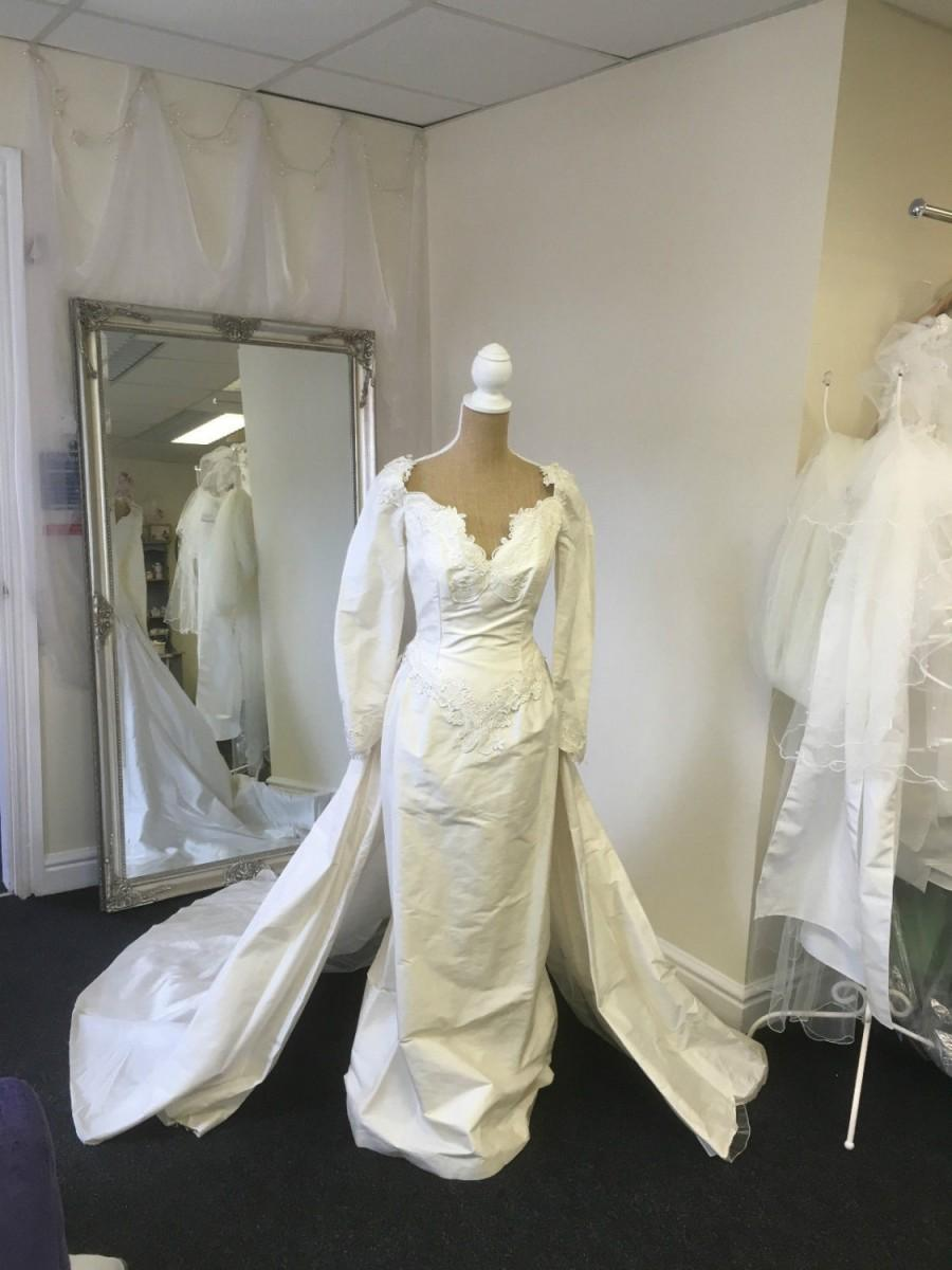 Wedding - Ivory Silk Wedding Gown, Designer Dress, Costume Theatre, Column Sheath Dress, Vintage Bridal Gown, Pagan, Forest, Fairy Tale Wedding Dress