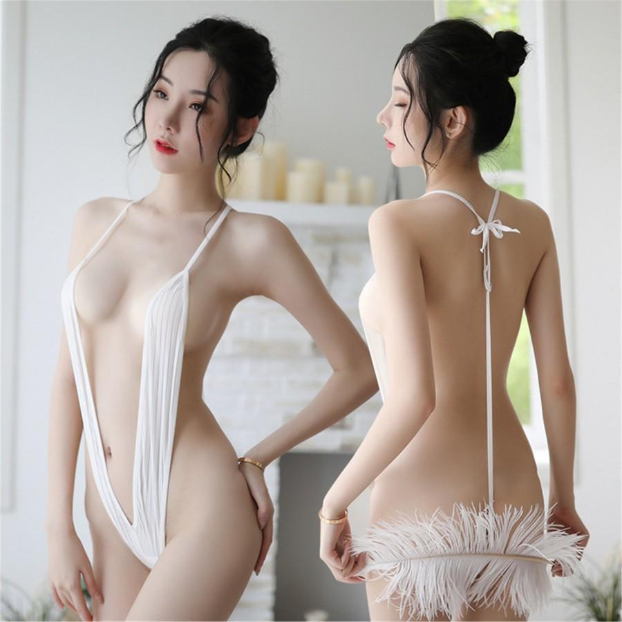 Wedding - vertical suspender swimsuit /girl's sexy underwear/three-point underwear/suspender personalized underwear/gift for lovers/ejection underwear