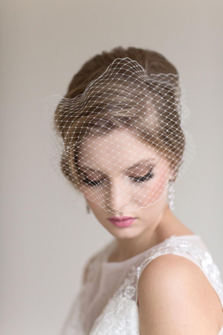 Mariage - Birdcage Wedding Veil, Wedding Birdcage Veil, Bandeau Veil, Bridal Veil, Net Veil, Wedding Veil