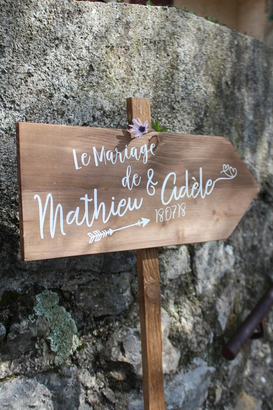Mariage - Original pallet wood sign to customize for country wedding decoration