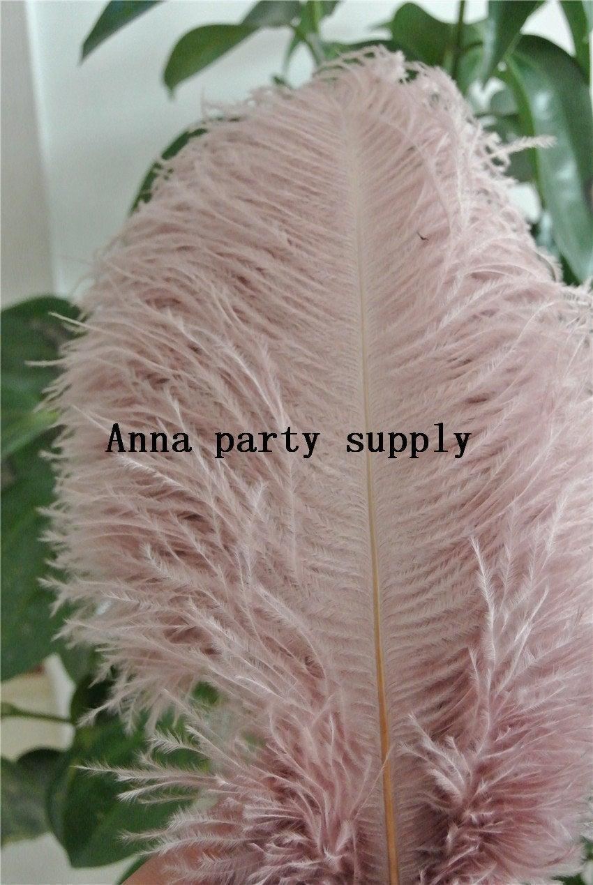 Mariage - 50 pcs blush pink ostrich feather plume for wedding party supply decor wedding centerpiece