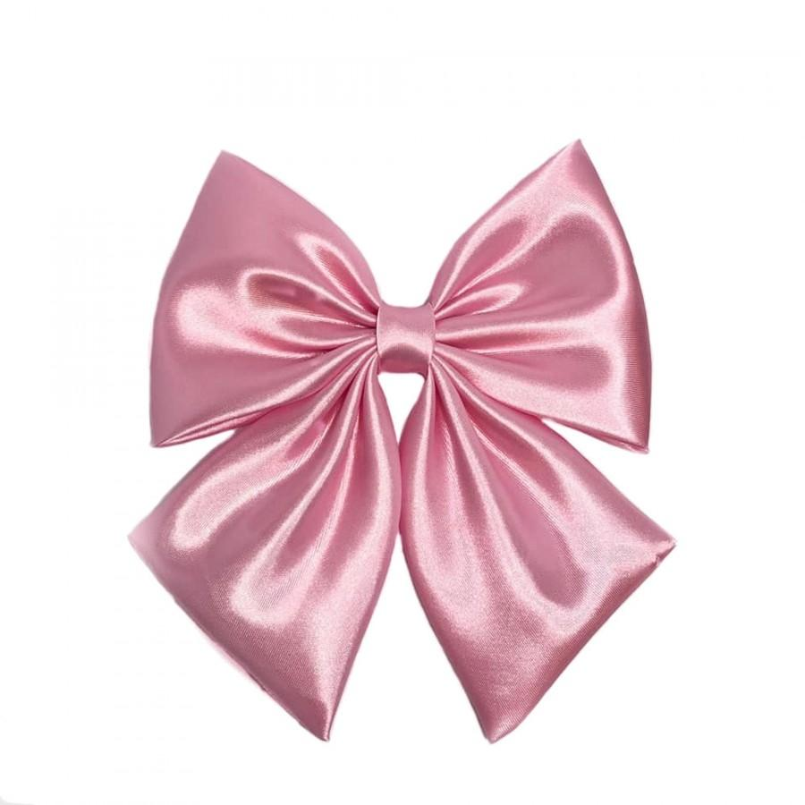 Hochzeit - Pink Hair Bow For Women, Large Pink Bow, Pink Bow For Girls, Big Bows, Pink Bow, Fabric Bows, Satin Pink Bows, Pink Barrette Bow, Hair Bows