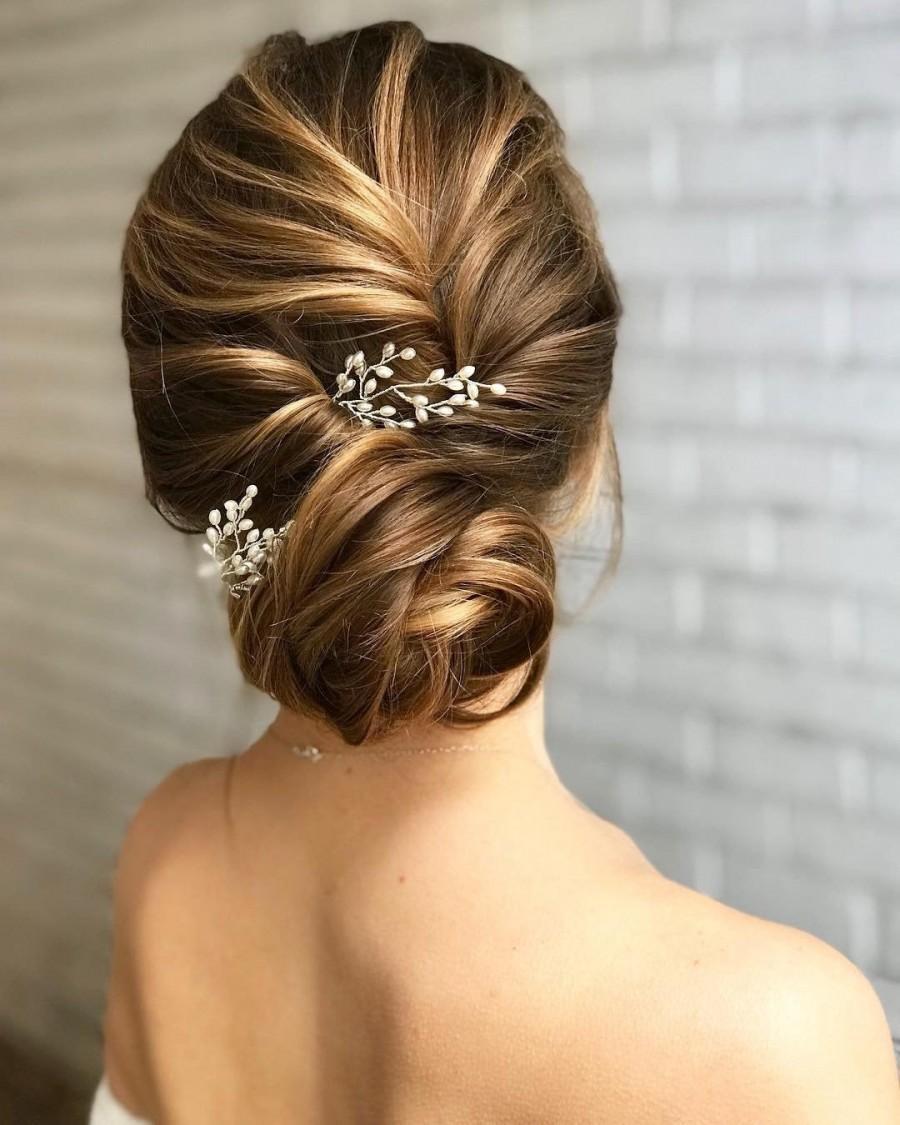 Hochzeit - Baby's Breath Hair pins Bridal Hair pins Bridal Hair piece Baby's Breath Hair piece Bridal Hair Accessories Wedding Hair Accessories