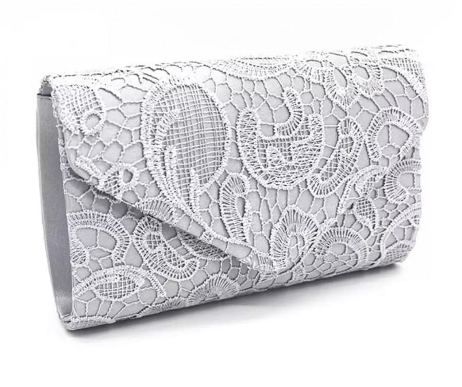 Wedding - Beautiful Vintage Inspired Bridal Lace Envelope Clutch Bag, Bridal Bag, Wedding Bag, Party or Event Clutch Bag - Various Colours