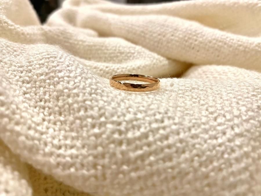 Mariage - Ring Band Simple Rose Gold 18k plated ring band minimalist dainty jewellery Stacking Shiny