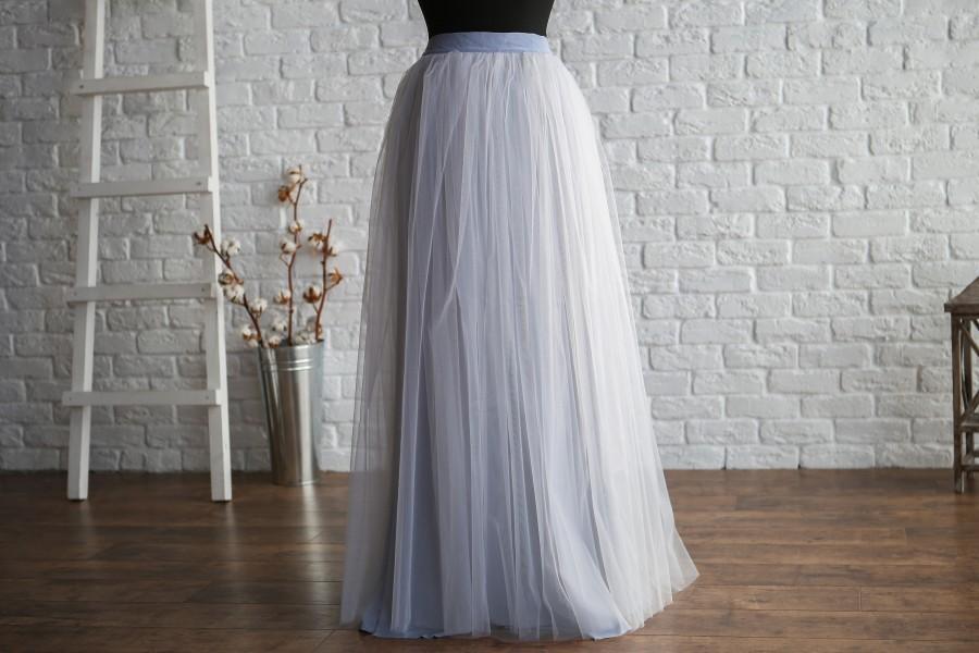 Wedding - Grey Long Tulle Skirt, tulle skirt women, maxi tulle skirt, tulle skirt plus size, long tulle skirt, tulle skirt wedding, grey bridesmaids
