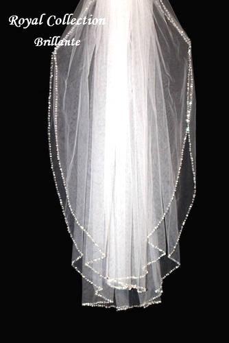 Wedding - crystal edge veil, beaded wedding veil, crystal veil and blusher, crystal wedding veil, beaded wedding veil, beaded veil