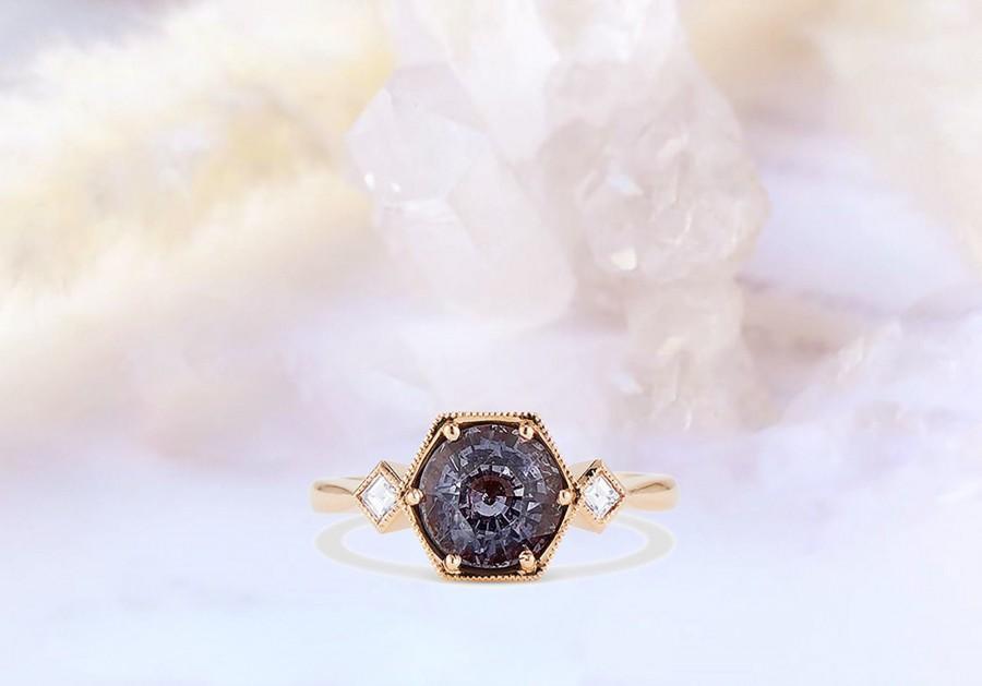 Wedding - Vintage alexandrite engagement ring, wedding ring, marriage ring for her, ring for her, promise ring, proposal ring, anniversary ring, ring