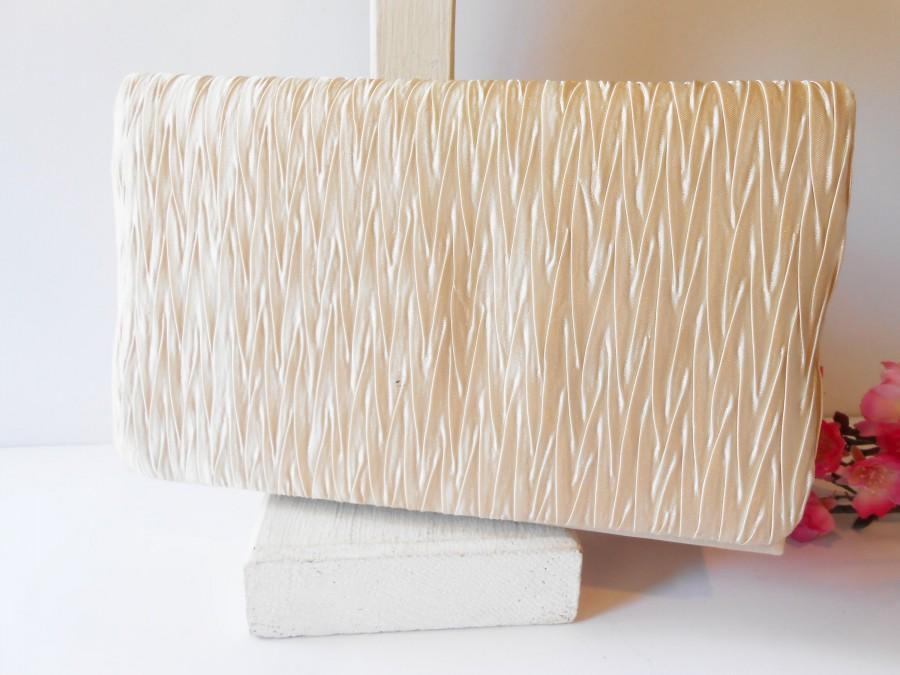 Mariage - Vintage Beige Evening Bag, Pale Beige Clutch Bag, Neutral Handbag, Special Occasion Bag EB-0224