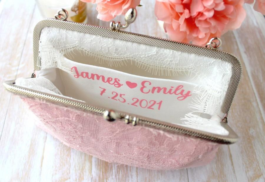 Mariage - Personalize Bridal Clutch with message - ADD ON ONLY - Personalized wedding purse - Mother of the bride gift for bride