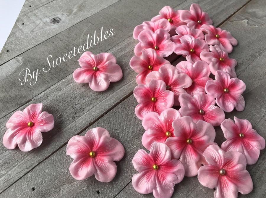 زفاف - Fondant Edilbe Cake Decorations Light Pink Gum Paste Blossoms 25 piece