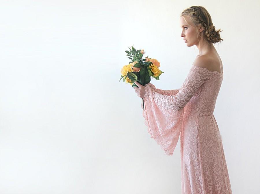 Wedding - Off-The-Shoulder Bell Sleeves Dress #1201