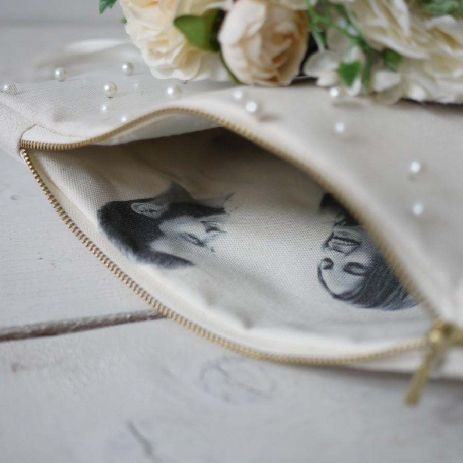 Wedding - Photo clutch for mother Personalized Photo Purse