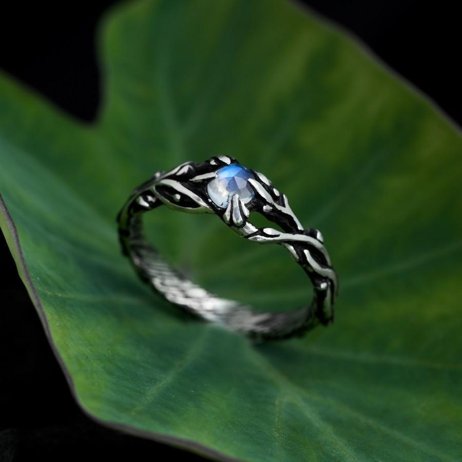 "Свадьба - Moonstone Ring Sterling Silver ""Jill"""