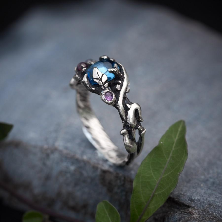 """Mariage - Blue Topaz Ring """"Avery"""""""