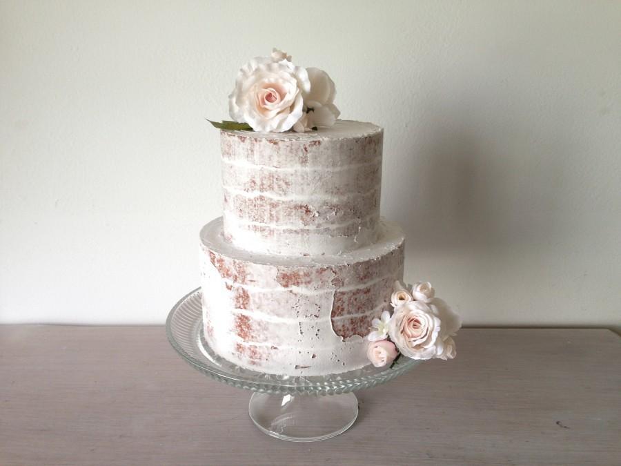 """زفاف - Ready to ship. Naked Fake Cake. Fake cake prop.  Perfect for weddings Naked cake. This is a 6"""" and 8"""" tiers"""