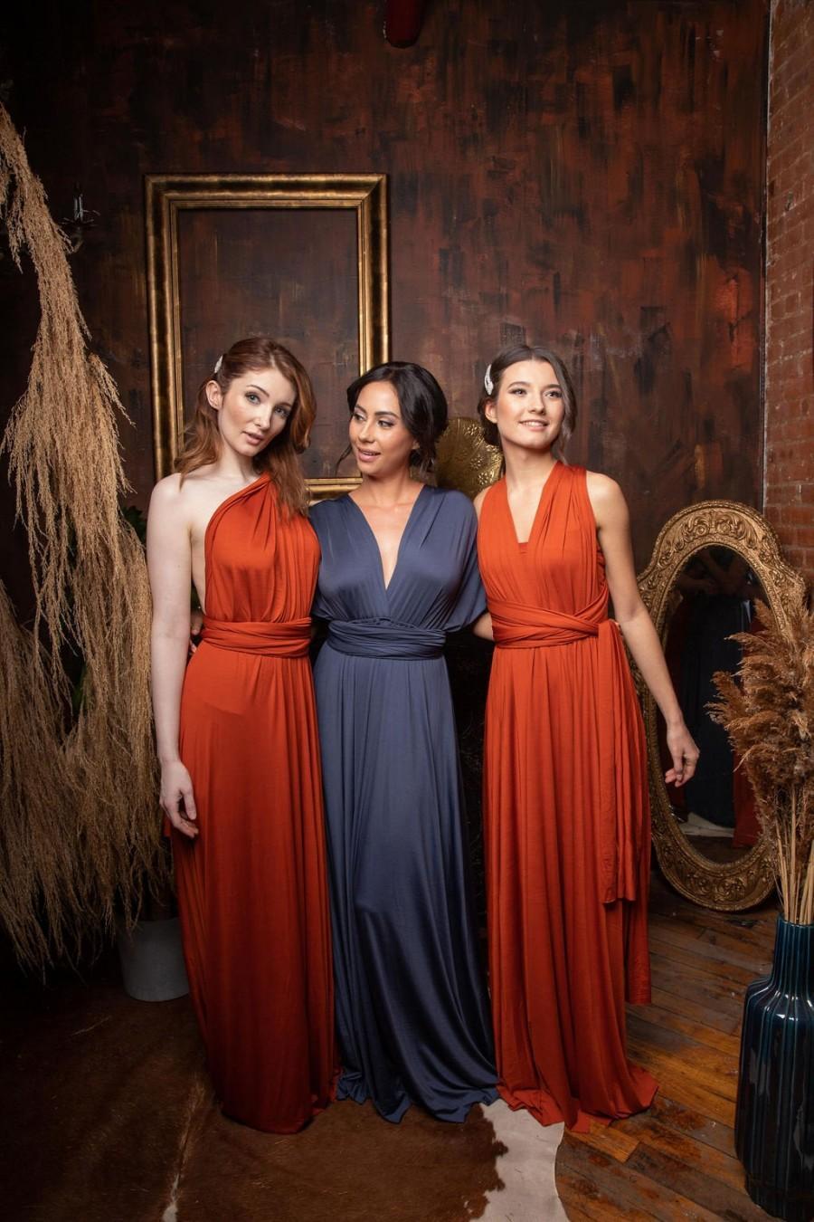 Wedding - Infinity Dress With Bandeau, Convertible Dress, Bridesmaid Dress, Long  Dress Plus Size, Multi-way Dress,  Wrap Dress