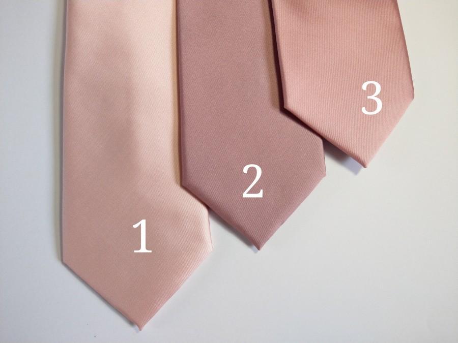 Wedding - Dusty Rose Blush Pink Quartz Mauve Light Rose neck tie