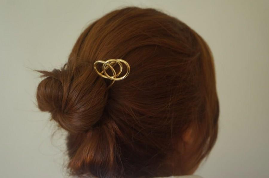 Wedding - Brass Hair Pin, Gold Hair Stick, Brass Hair Fork, Thoughtful Gifts for Her, Hair Pins for Women, Modern Hair Pin, Boho Mom, Graduation Gift