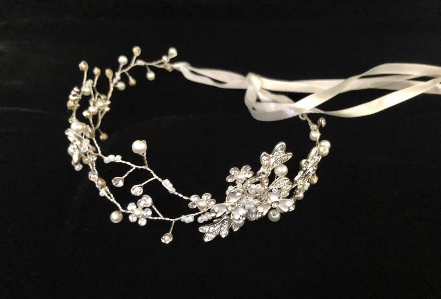 Wedding - Flower Girl Crown Wreath, Communion Crown, First Communion Tiara, Crown, Gold Flower Girl Crown, Communion Crown, Wedding Crown,
