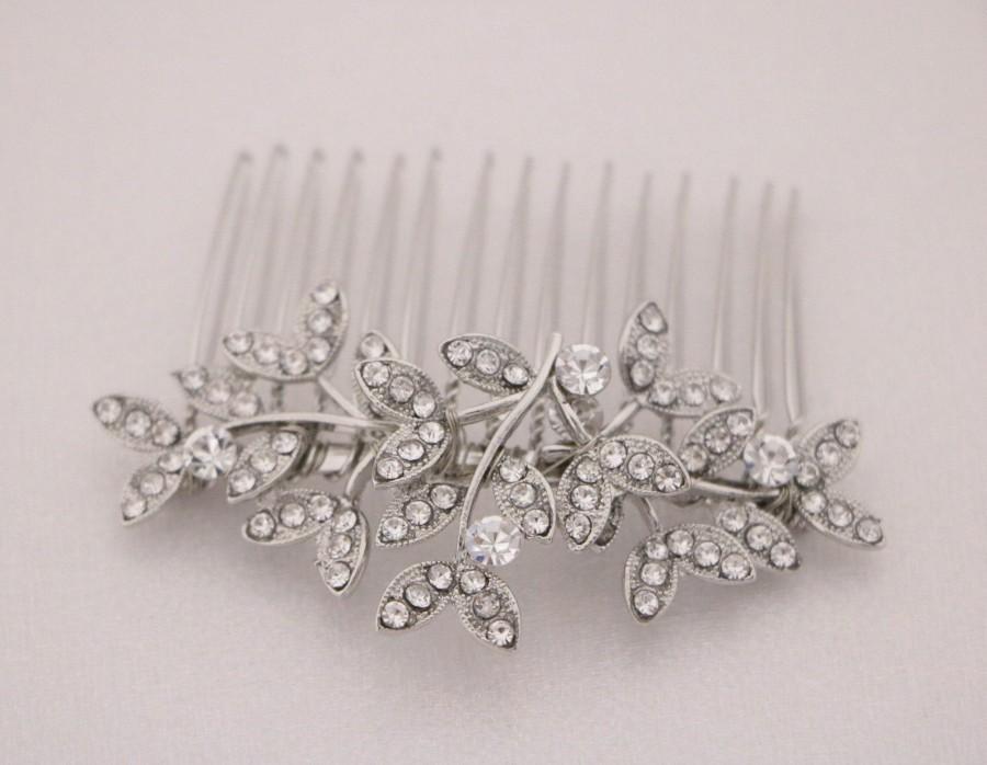 Wedding - Wedding side comb Bridal rhinestone crystal comb Gold Wedding hair comb Rose gold Bridal hair comb Small Bridal comb Boho Wedding comb in