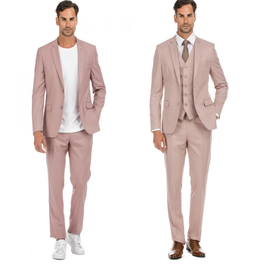 Wedding - Porto Filo 2-piece & 3-piece men's dusty rose slim fit suit
