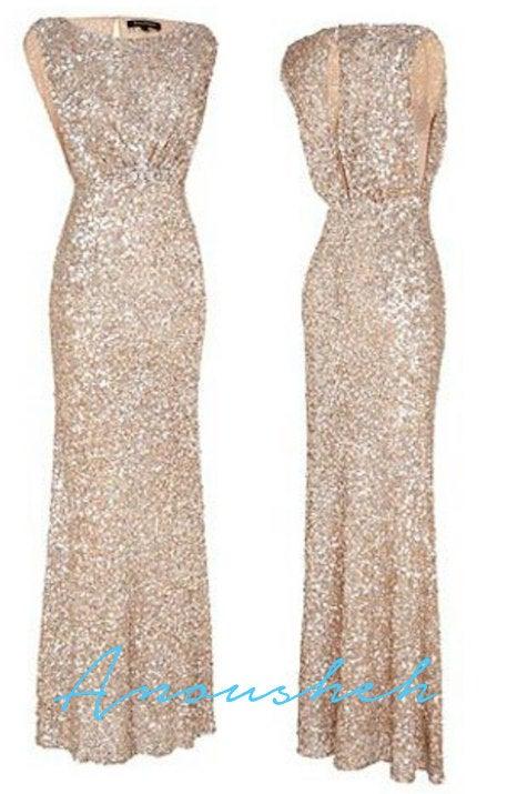 Wedding - Sequin Bridesmaid Dress / Mix and Match Bridesmaids / Champagne gold sequin bridesmaids dresses / matte sequin dress / alternative wedding