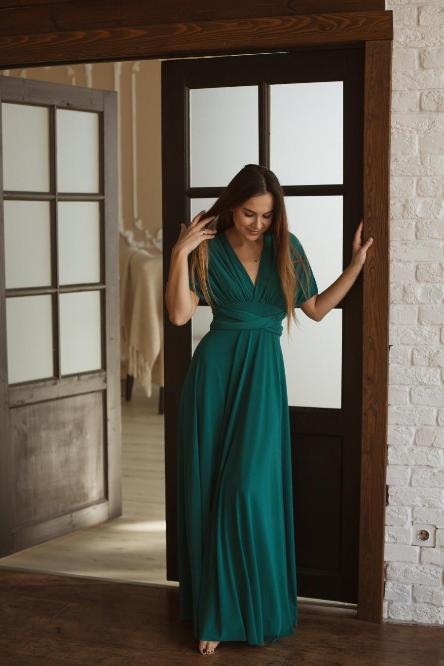 Mariage - Forest Green infinity dress, Dark Green Bridesmaid dress, forest green convertible dress, green multiway dress, dark green bridesmaid dress