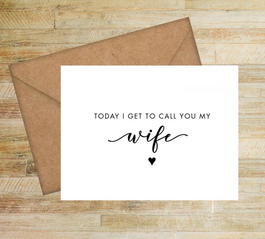 Wedding - To My Wife Wedding Day Card
