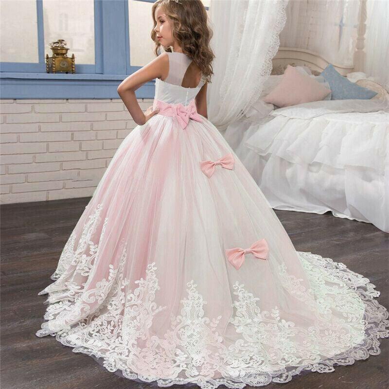 Wedding - Princess Flower Girl Birthday Wedding Tutu Custom Evening Gown Baby Kids Girls Dress Princess Ball Gown/Flower girl dress/Pageant Dresses