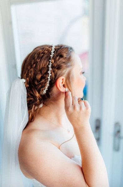 Wedding - Crystal Hair Vine, Bridal Headband Silver, Wedding Hair band, Pearl Rhinestone Halo, Dainty Tiara