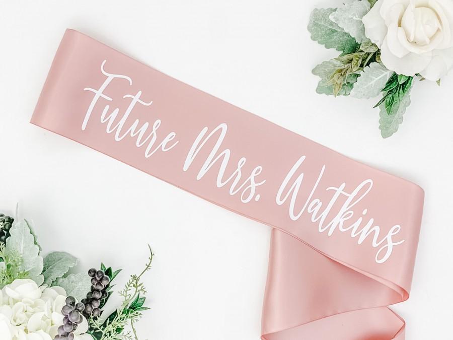 Wedding - Satin Future Mrs. Sash - Bachelorette Sash - Bachelorette Party - Bridal Shower Sash - Bride Gift - Bachelorette Party Accessories