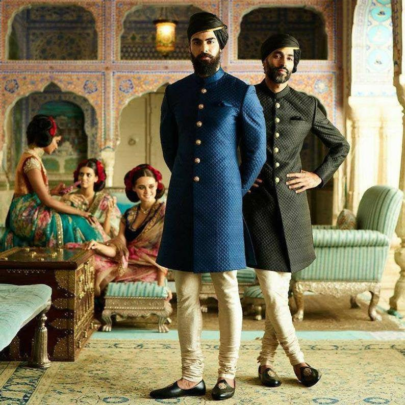 Wedding - Sabyasachi Inspired Indian wedding dress that you will want for the most valuable day of his life sherwani for groom,Quilted Styled Sherwani