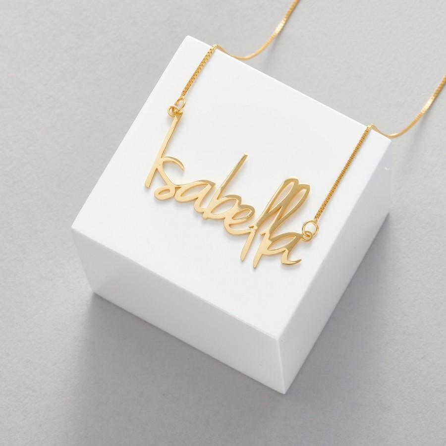 Wedding - Gold Name Necklace • Personalised Name Necklace • Custom Name Necklace • Custom Name Jewellery • Personalised Necklace Gift • Any Name