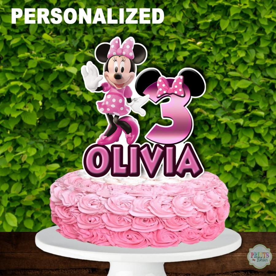 Wedding - MINNIE MOUSE Cake Topper, Minnie Mouse 1st Birthday Cake Topper, Minnie Mouse Centerpiece, Cake Decoration, Minnie Mouse