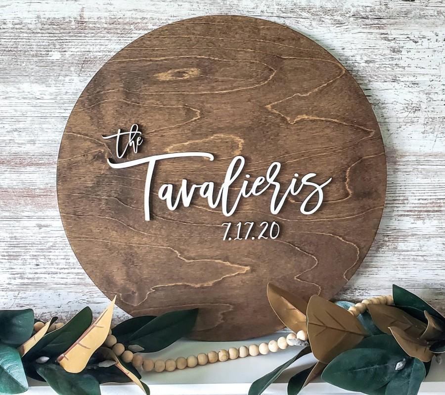 Wedding - Large 3D Wood Cutout Guest Book/ Wedding Sign/ Wedding Guest Book/ Newly Wed Gift/ Wedding Shower Sign/ Large Wood Name Circle/